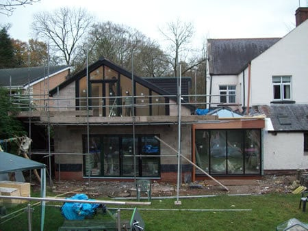 Large 2 story extension and orangery garden room