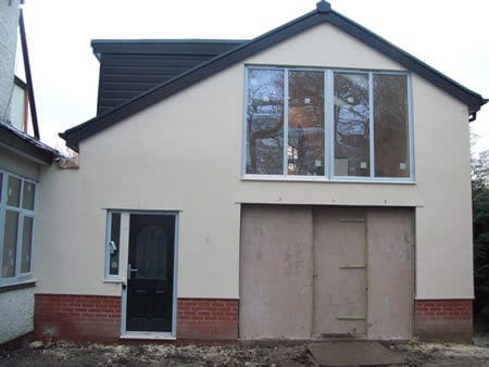 Large 2 story extension