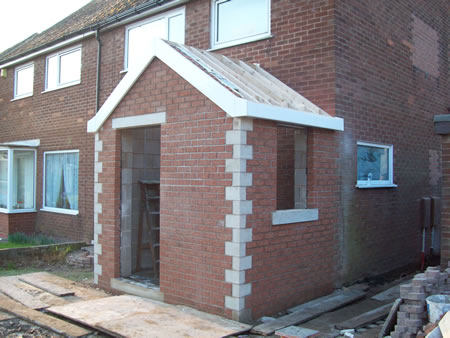 New Front Porch with Cloakroom and Drainage