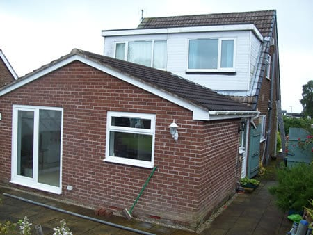 Single story extension to double storey extension
