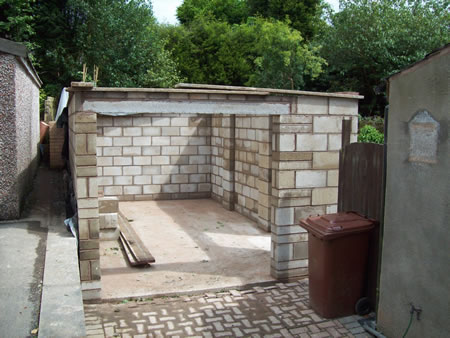 New garage and concrete base