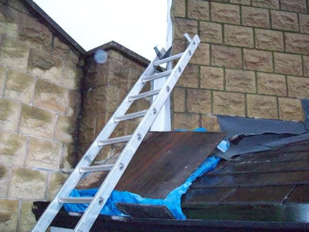 Lead flashing repair commercial maintenance