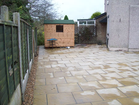 Garden conversion in Burnley