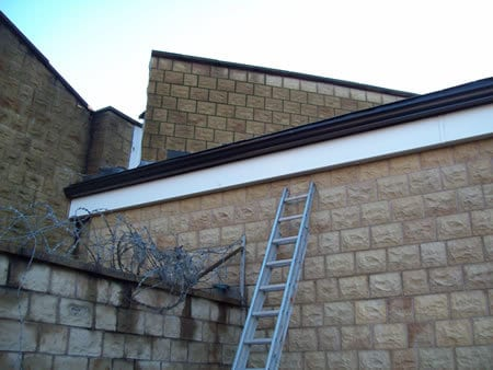Repair of wall and roof area