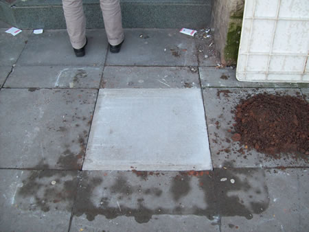 Paving flag replaced