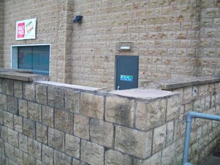 Repair of top of wall