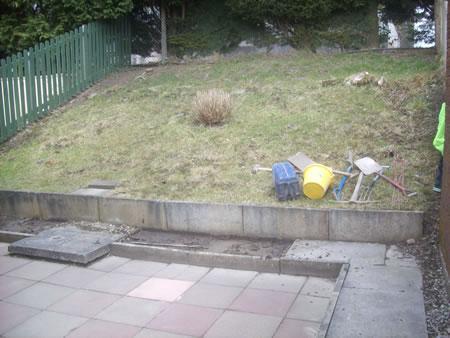 Original garden before landscaping