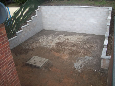 Garden landscaping and restructure