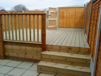 Back Garden with Wooden Decking