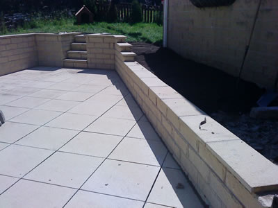 Back Garden Paving and Walls