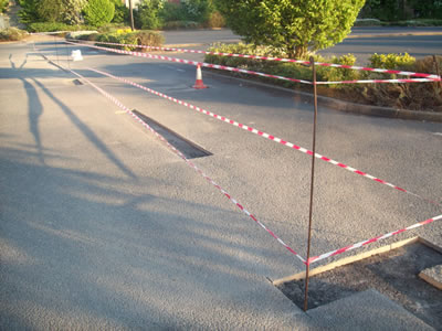 Car Park Fixing Eroded Tarmac Areas