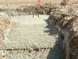 Concrete building foundations