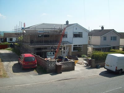 Double Storey House Extension roof construction