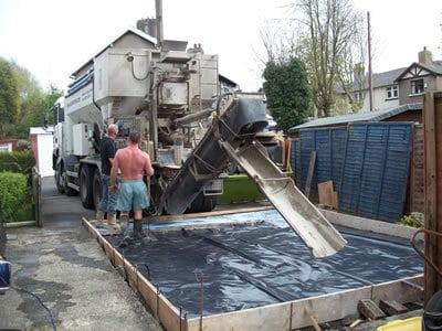 Concrete Garage Base Construction