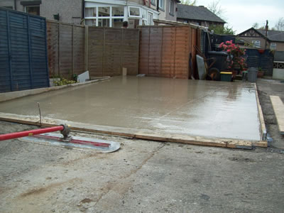 Concrete garage base construction - Construction garage prefabrique beton ...