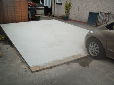 Concrete Garage Base