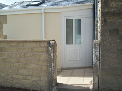 Terraced House Extension, Stone Storage Extension