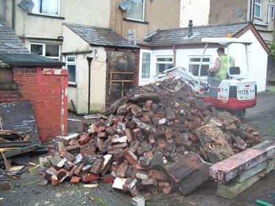 Old outhouse demolished