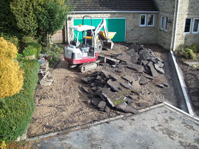 Extended Driveway groundworks