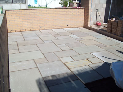 Indian paved patio