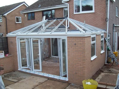 Orangery with bi-fold doors
