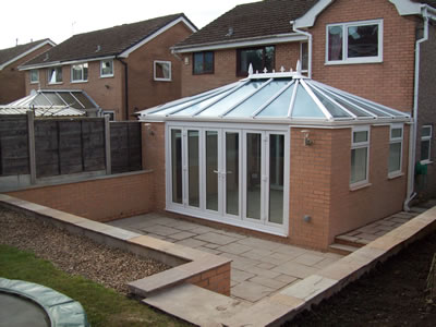 Orangery Extension Project Bi fold Doors Indian Paved