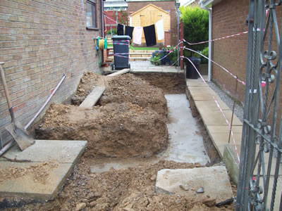 Footings for house extension