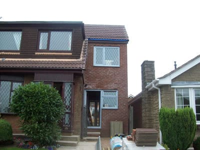 Double storey house extension