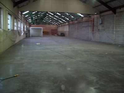 Industrial Unit Concrete Floor
