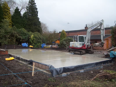 Garage Foundations and Concrete Floor