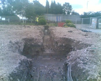 Large footings for 2 story office block