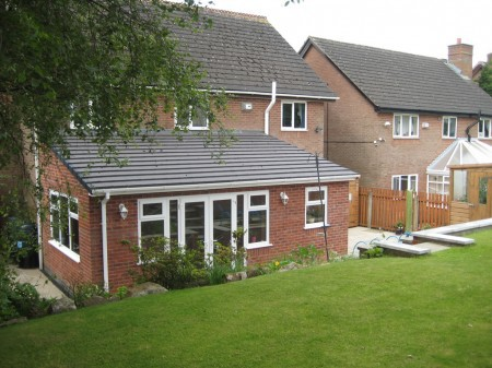 Single storey house extension in Burnley