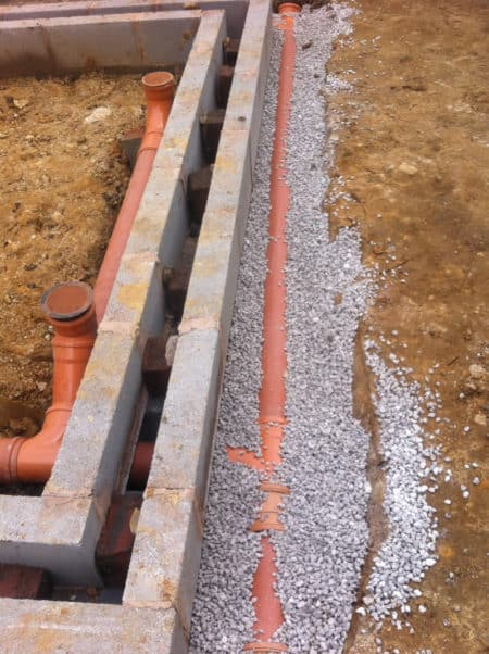Laying drains and foundations for house extension