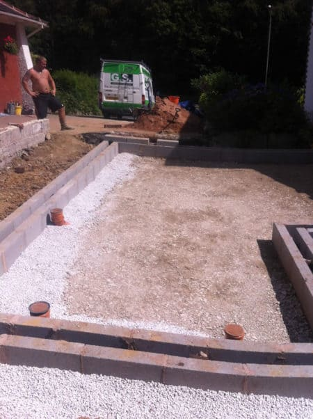 Foundations for single storey extension