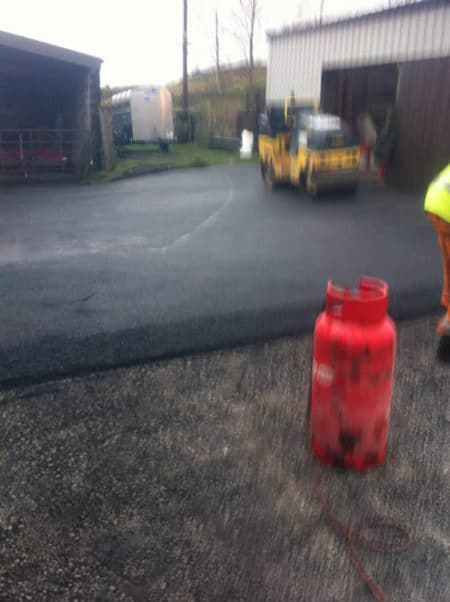 farmyard with new tarmac
