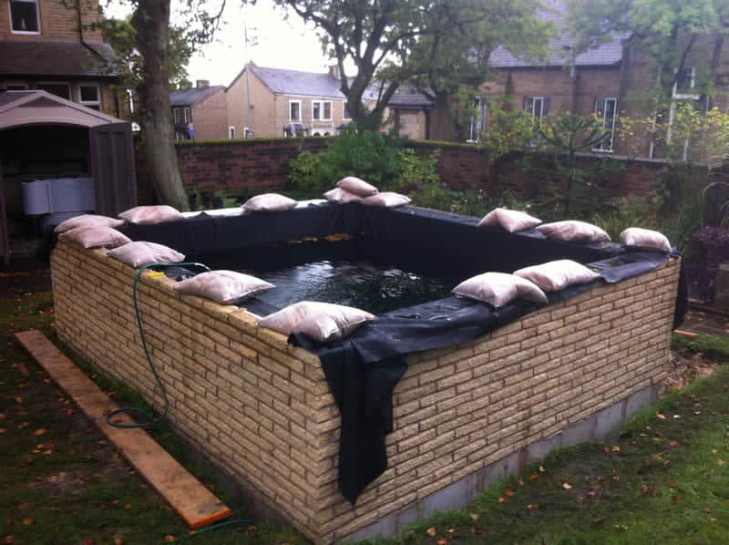 Koi carp pond in north east lancashire for Koi pond builders yorkshire