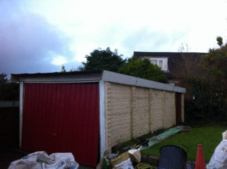 Old tired garage to be demolished