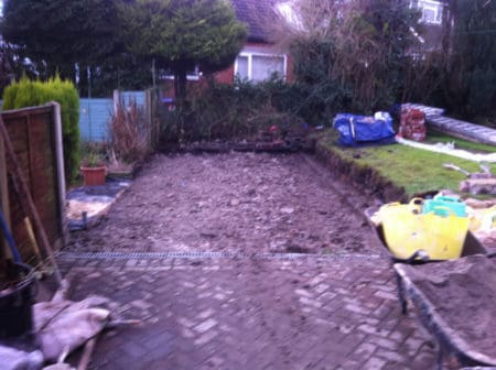 Ground clear for new garage