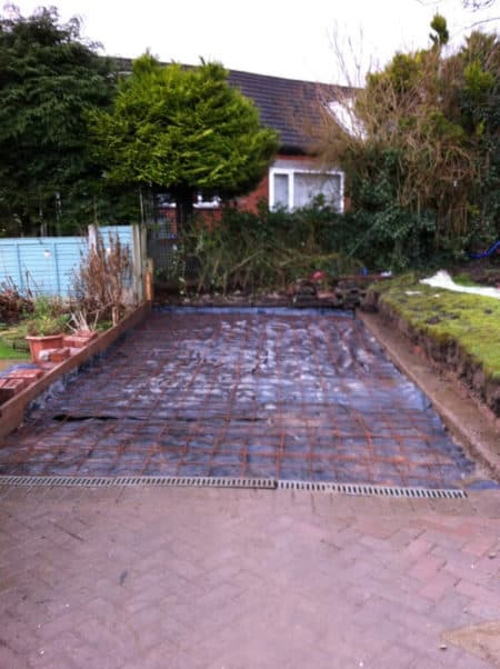 Ground levelled, steel in place