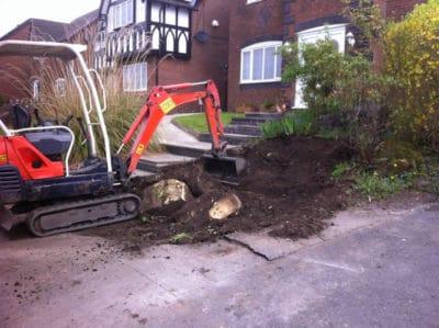 Excavating garden