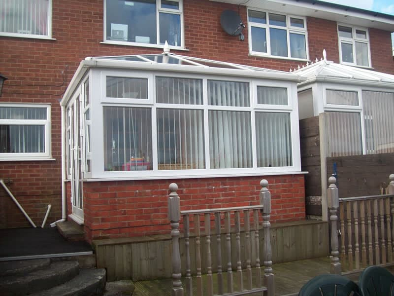 Conservatory at the rear of semi-detached house